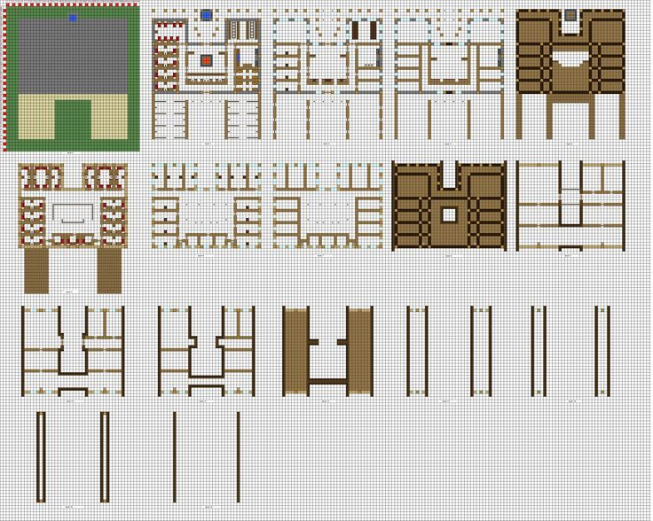 Minecraft houses layouts