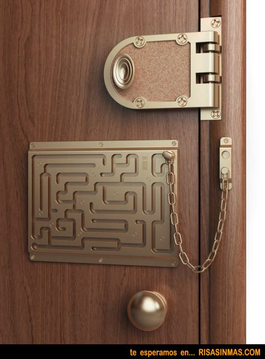 Good luck ever getting this door unlocked fast enough to escape a killer in your house & Good luck ever getting this door unlocked fast enough to escape a ...