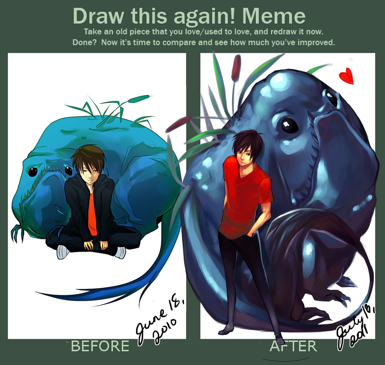 Draw This Again Meme By Thelittlefireflyiantart Art Draw
