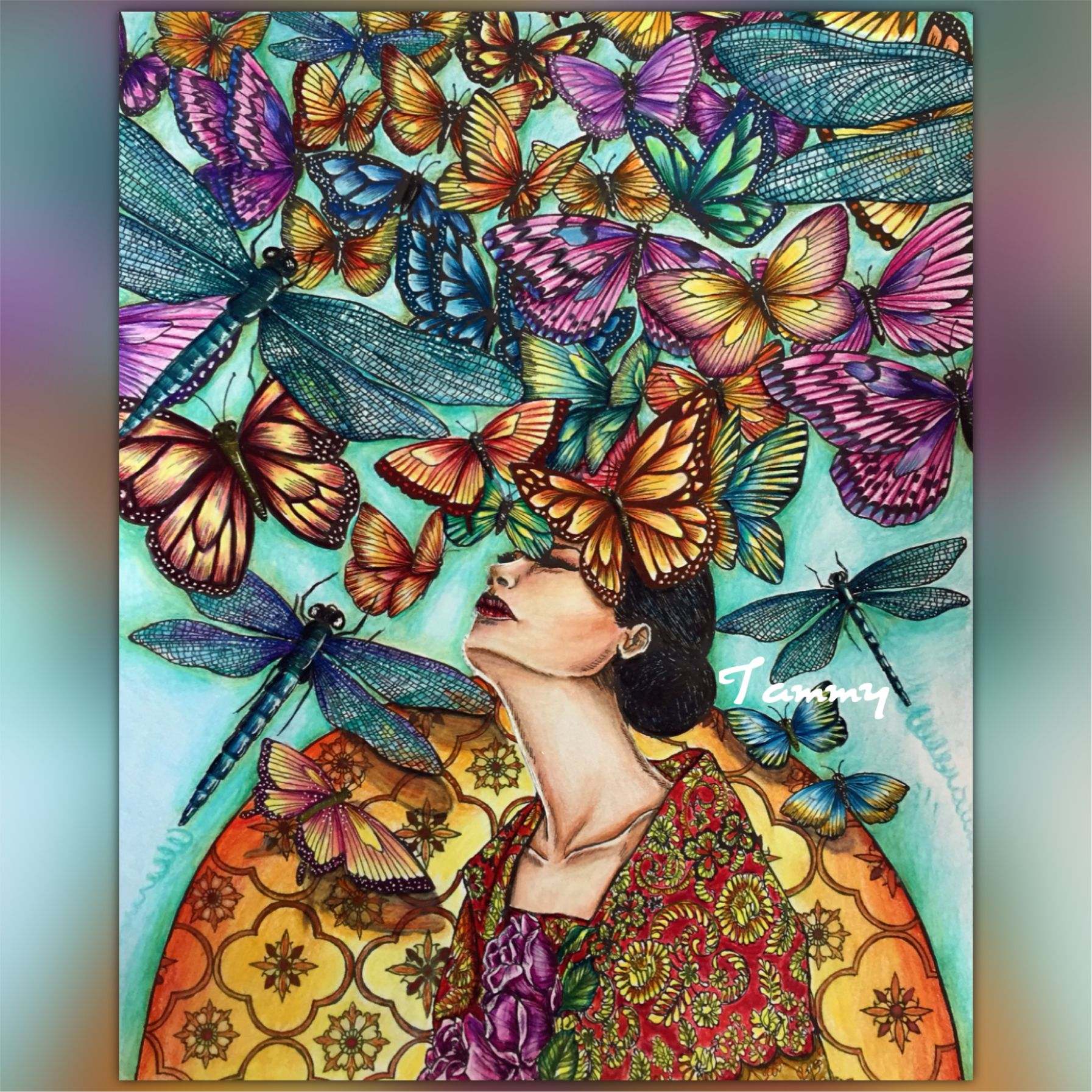 Butterflies Dance Book Moon Blossoms By Katrina Pallon Colorful Art Coloring Books Coloring Pages