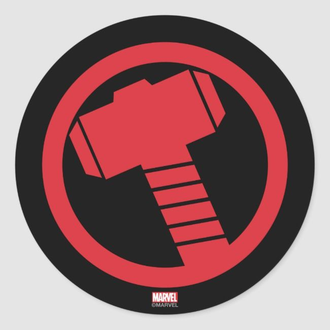 Mighty Thor Logo Classic Round Sticker Zazzle Com In 2021 Thor Logos Thor Wallpaper