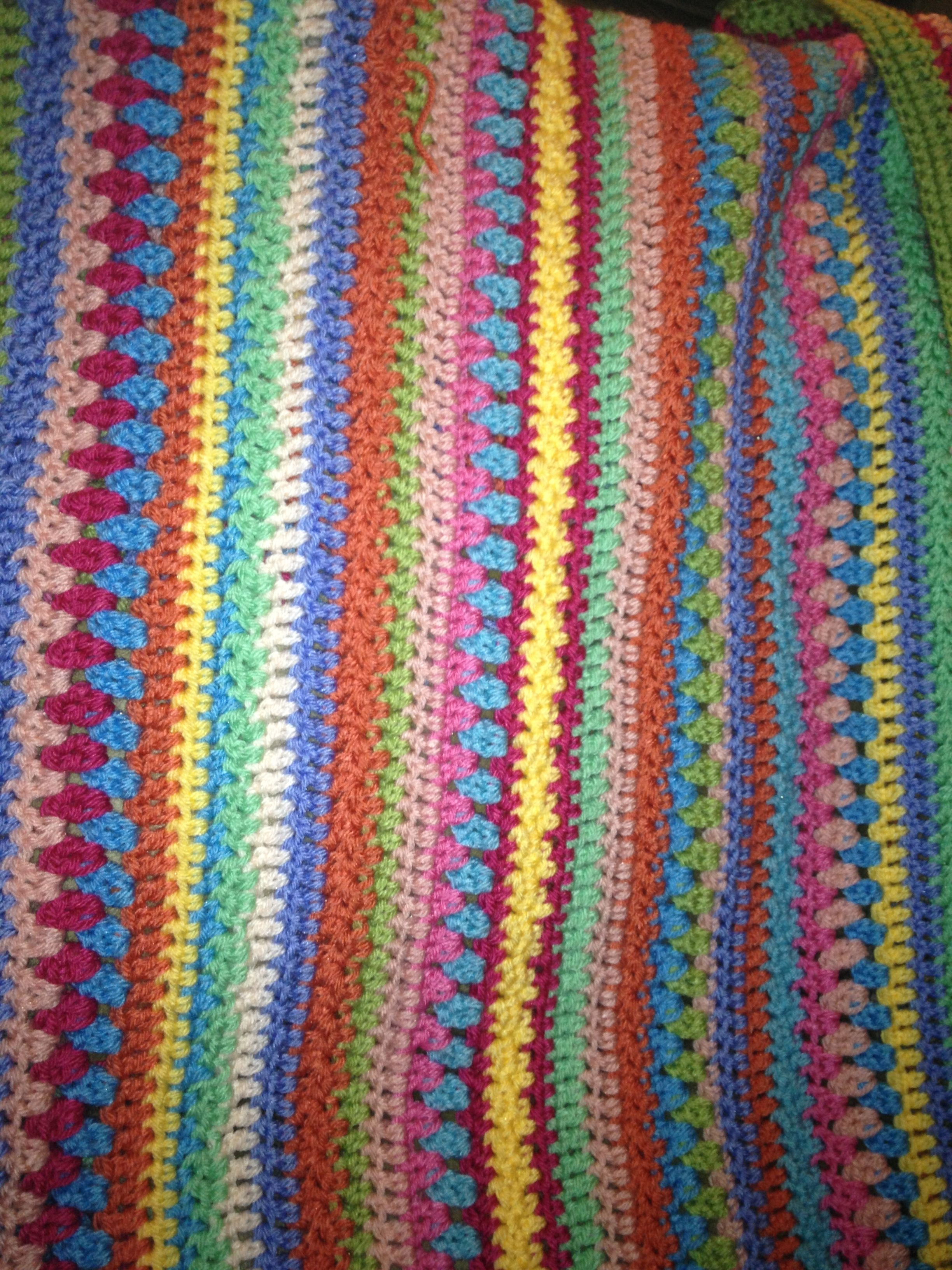 Baby Afghan Made With Scrap Baby Yarn Scrap Yarn Crochet