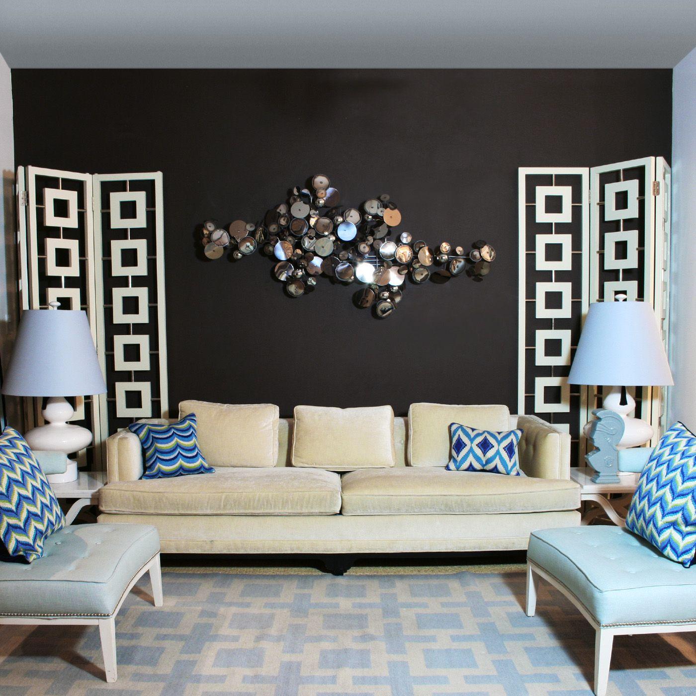 C Jere Raindrops Wall Sculpture High Ceiling Living Room