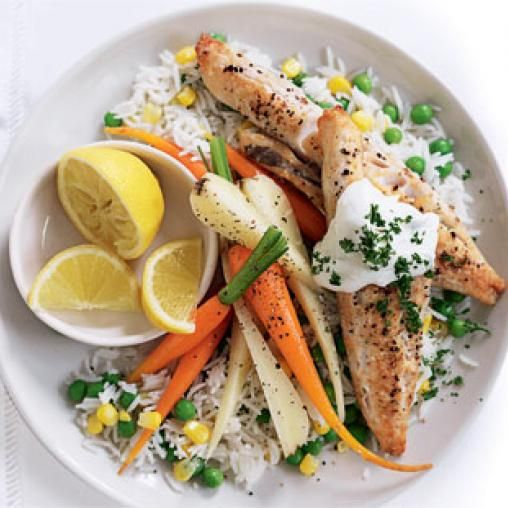 Grilled Flathead And Vegie Rice Australian Healthy Food Guide