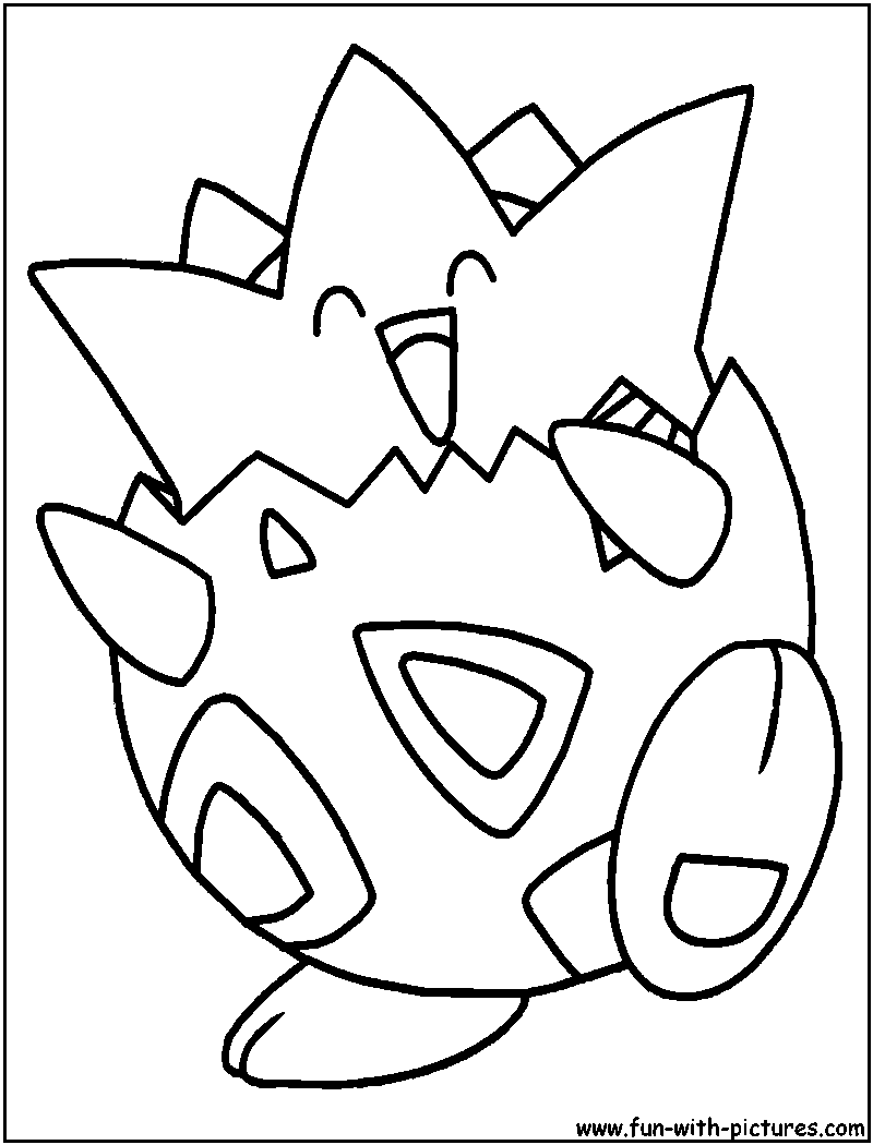 Togepi Coloring Page Pokemon Coloring Pages Pokemon Coloring Pokemon Sketch