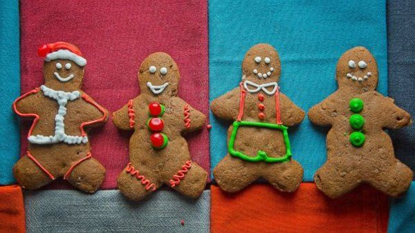 Gingerbread Cookies  3½ cups all-purpose flour  1½ tablespoons ground ginger  1 teaspoon ground cinnamon  ¾ teaspoon fine salt  ½ teaspoon ground allspice  ½ teaspoon baking soda  ¼ teaspoon baking powder  1 large egg  2½ tablespoons sriracha sauce  3 tablespoons packed freshly grated ginger  ½ cup (1 stick)   ½ cup packed light brown sugar  2/3 cup unsulphured molasses 1 cup minced crystalized ginger  Royal Icing  3 egg whites  1½ tablespoons lemon juice  4 cups confectioners' sugar