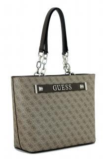 Handtasche Logoprint Guess Kerrigan Shopper Brown braun