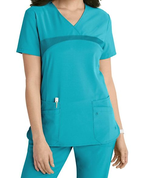 1533e3e233c Urbane Performance Media Collection Renew 4-pocket Scrub Top ...