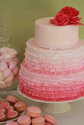 Pretty in pink ruffle cake