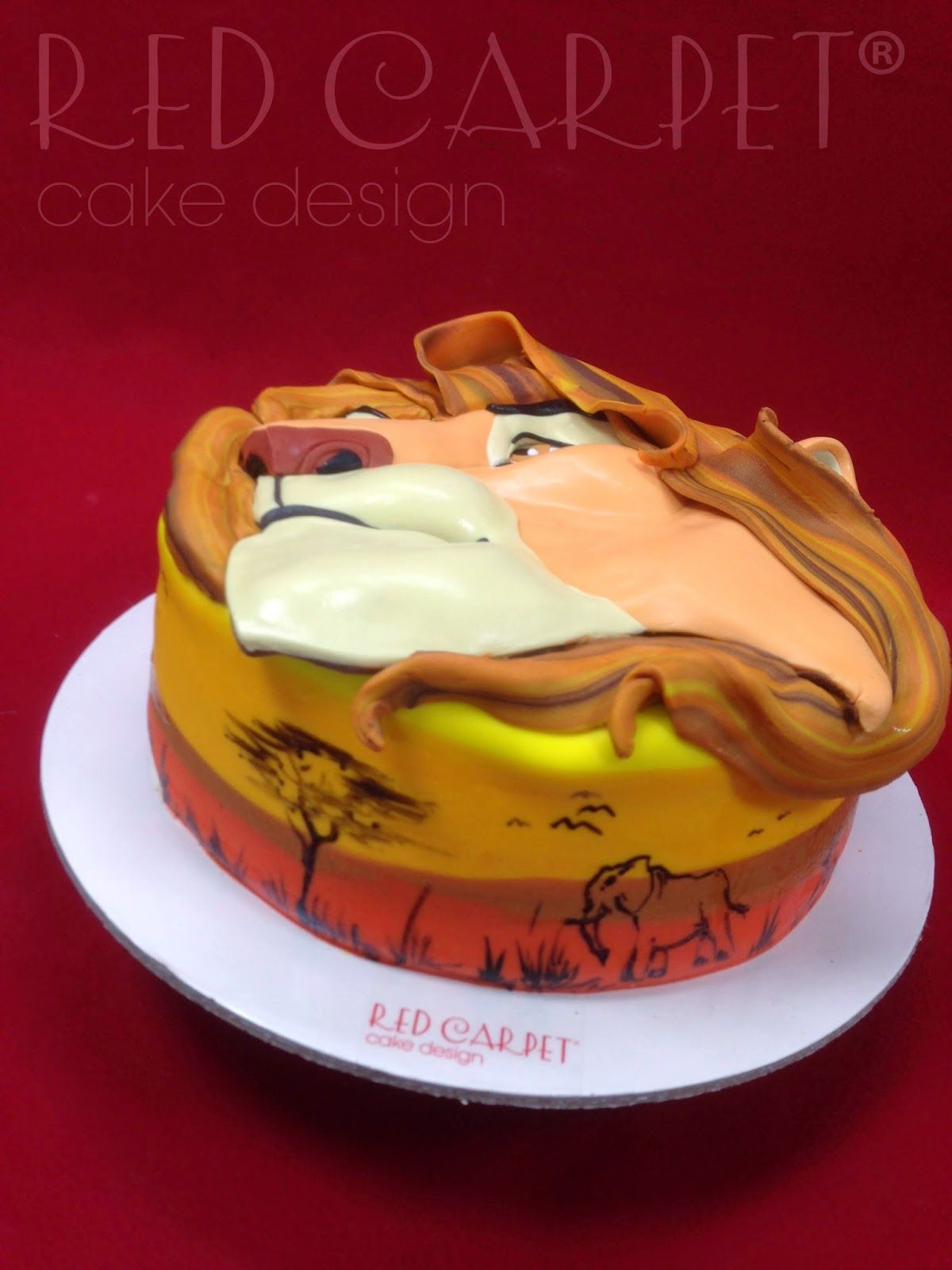King Lion Cake By Red Carpet Cake Design I Soo Want To Make That