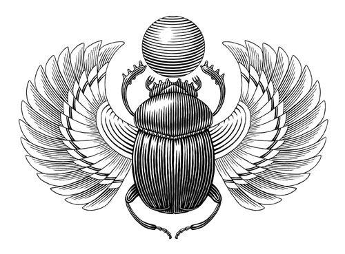 Картинки по запросу раскраска жук скарабей египет ...