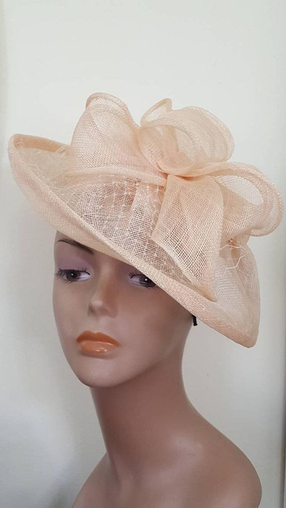Peach fascinator hat 74cc9aa813d