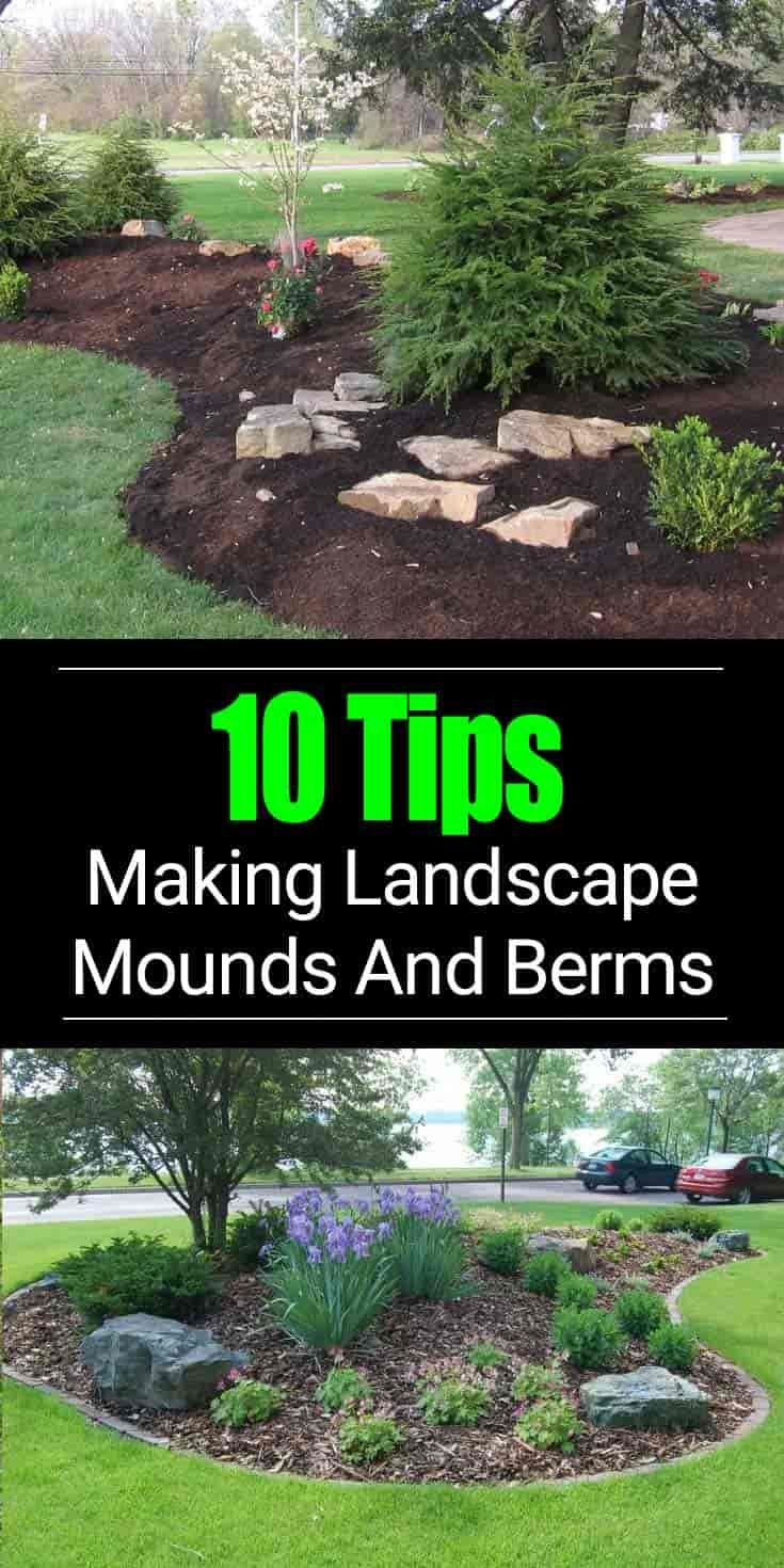 berm landscaping tips building