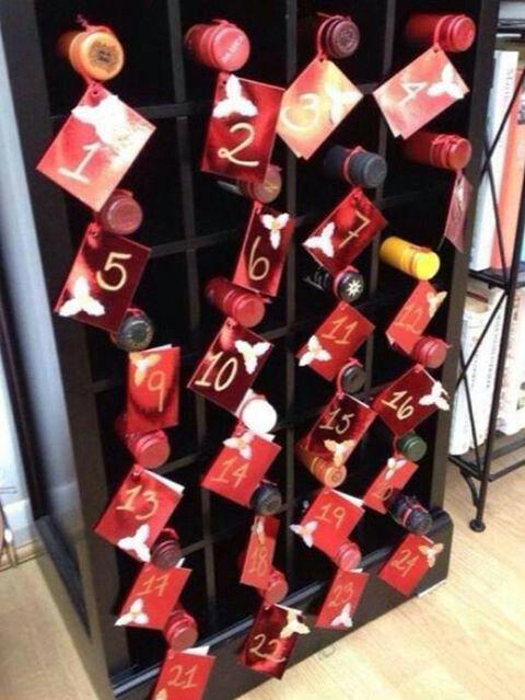 Mommy and Santa's wine advent calendar :)