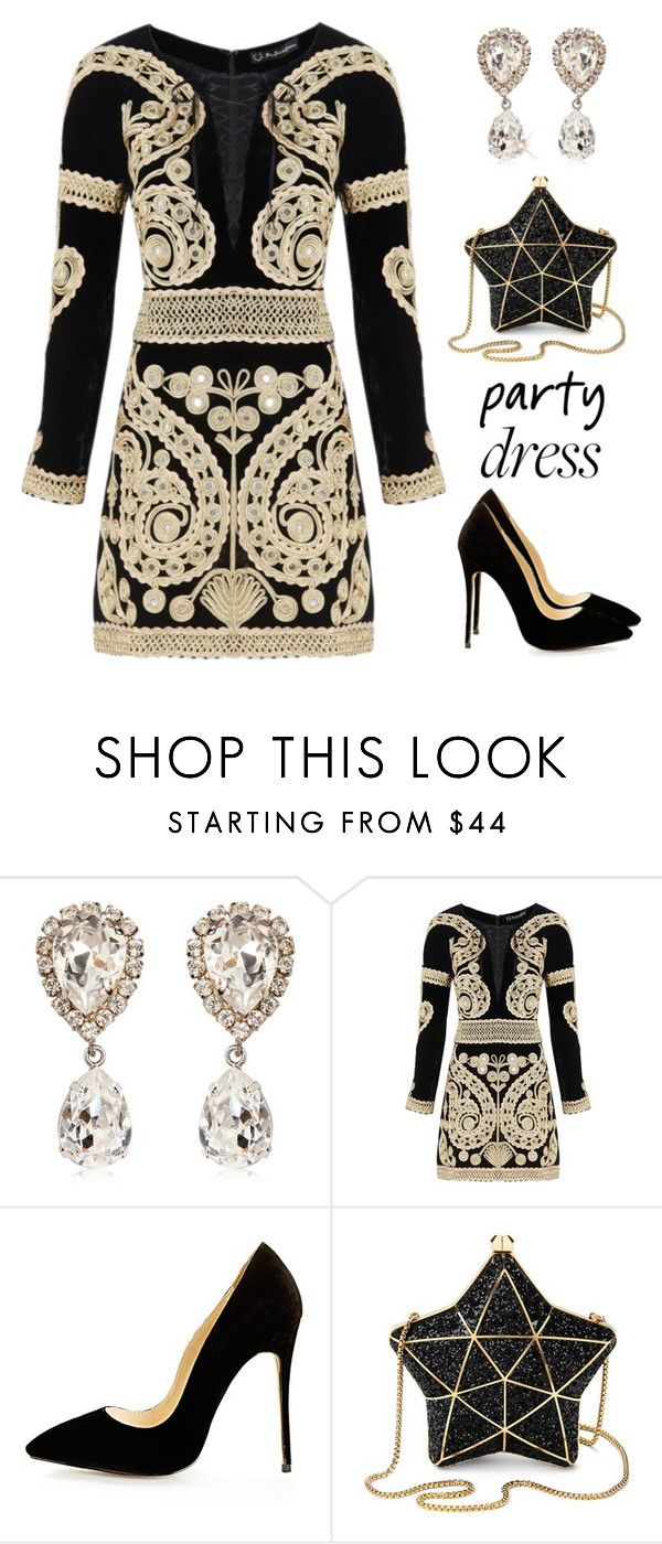 """Party dress"" by rasa-j ❤ liked on Polyvore featuring Dolce&Gabbana, For Love & Lemons, Aspinal of London, partydress and womensFashion"
