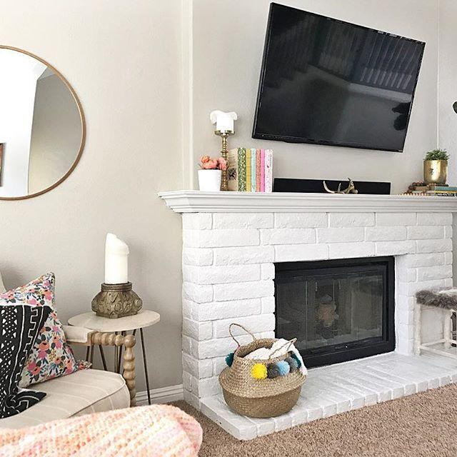#fireplace #brightwhite #cooldecember #anthrohome #anthropologie #homedecor #diy
