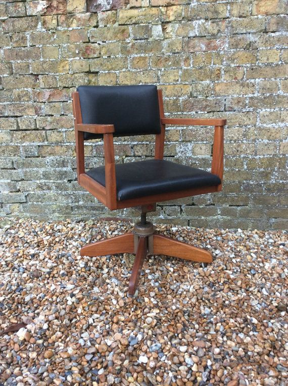 1950s Swivel Fita Office Desk Chair Mid By Kellymariavintage Mid Century Teak Furniture Mid Century Office Chair Chair