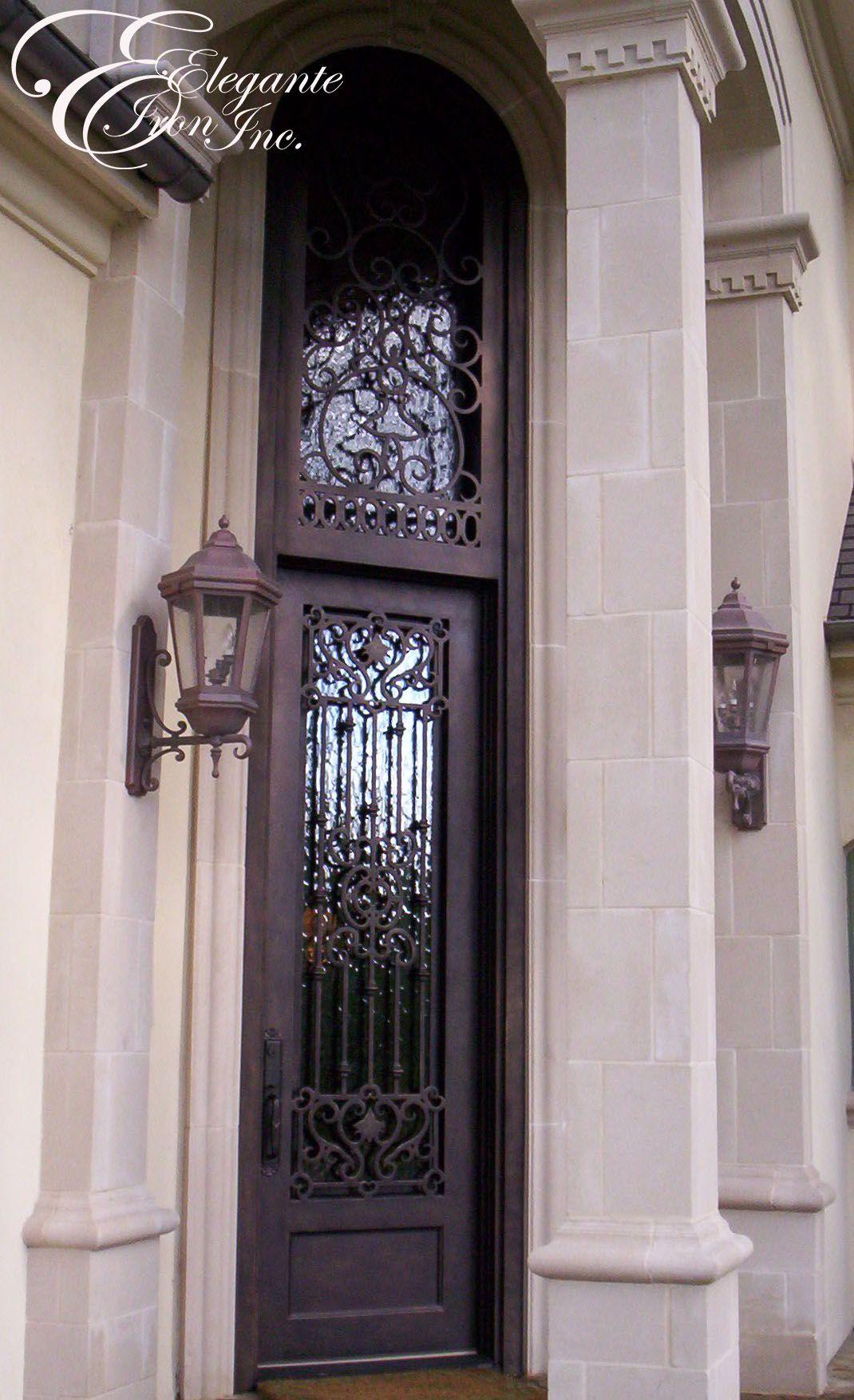 Custom Wrought Iron Door With Transom Wrought Iron Doors