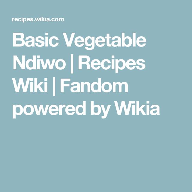 Ndiwo Recipe