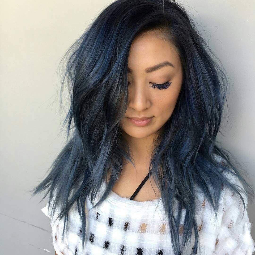 Seamless Layer Cut By Richiemiao Color Melting Midnight Blue