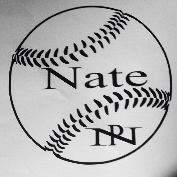 Custome Baseball Decal Softball Decal Custom By VaVaVoomVinyl - Custom vinyl baseball decals