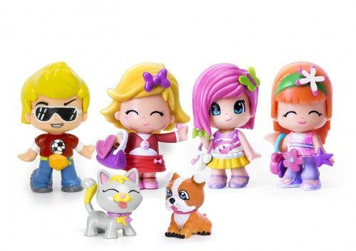 Pinypon Pack 4 Figuras Y 2 Pets Pinypon Minidolls Toys