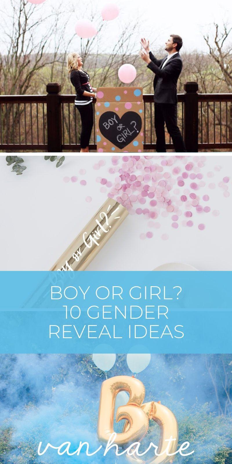 Junge oder Mädchen? 10 Gender Reveal Party Ideen | van harte Blog