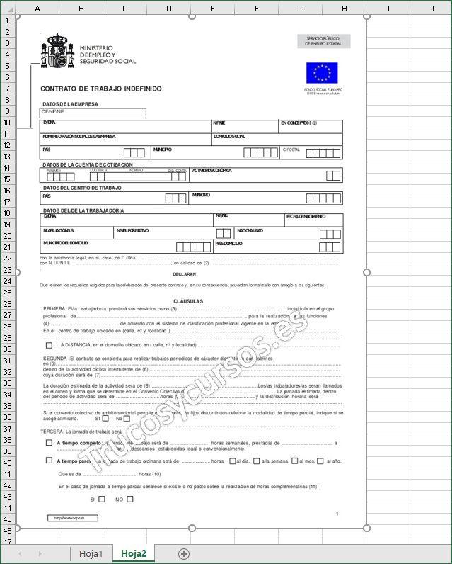 Rellenar documentos y formularios en Excel | Excel: General ...