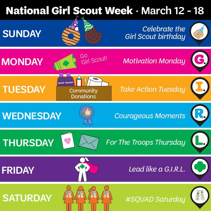 Girl Scout Week is almost here! This year we\u0027ll be celebrating all