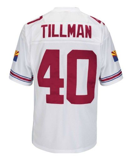 1dffa82435b4 Amazon.com  Pat Tillman Arizona Cardinals White Stitched Throwback Jersey   Sports   Outdoors