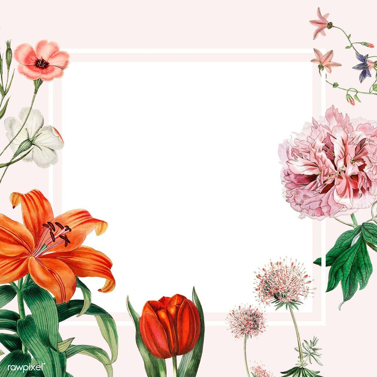 Download premium illustration of Colorful vintage floral ...