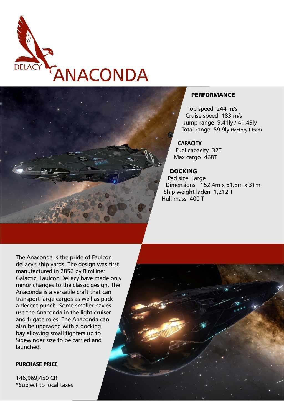 Elite Dangerous Falcon Delacy Ship Brochure Elite Dangerous