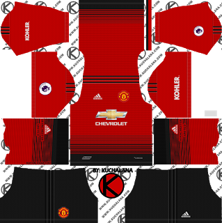 Manchester United Dream League Soccer Kits 2019 2020 Terbaru Soccer Kits Manchester United Home Kit Manchester United