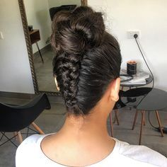Braided Top Knot ✨  #styled by @vdhair xo