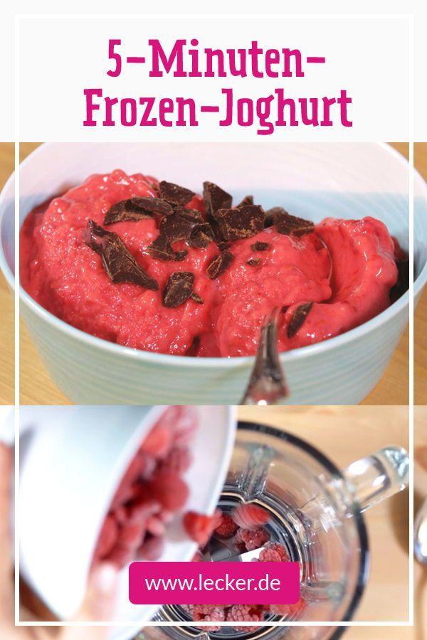 Frozen-Joghurt selber machen in 5 Minuten - so geht's - Food-Trends - die besten Rezepte -