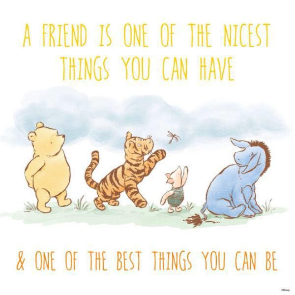 An Image Of Winnie The Pooh And Friends Text Reads A Friend Is Mesmerizing Winnie The Pooh Quote About Friendship