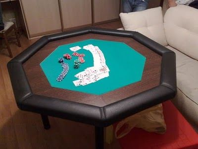 how to make a poker table need to re purpose an old table rh pinterest com how to make a poker table in minecraft how to make a poker table cake