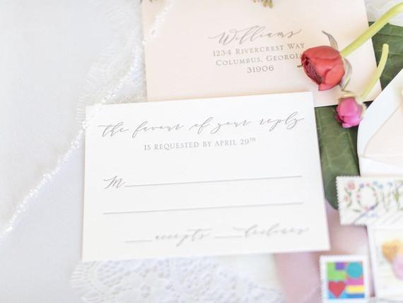 The Rivercrest Suite Sample Letterpress Wedding
