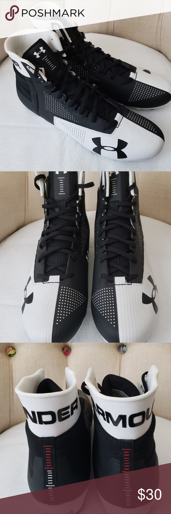 dc94e063e2e6 UNDER ARMOUR Renegade Football Cleats 13 MENS UNDER ARMOUR Renegade MC  Football Cleats 1292519-011 Size 13 New without box Under Armour Shoes  Athletic Shoes