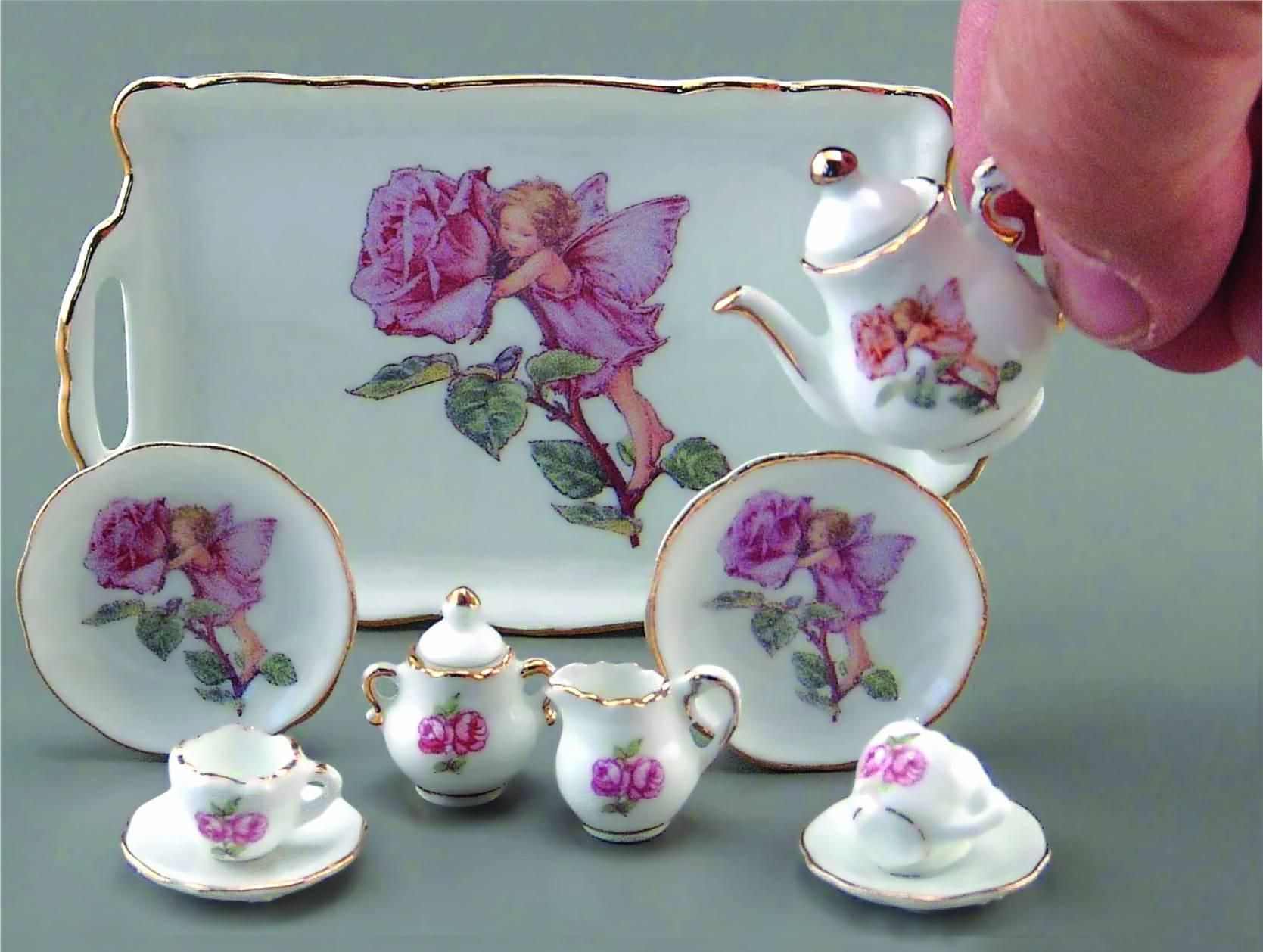 Irish made Rose Finial miniature  Sent pot handcrafted