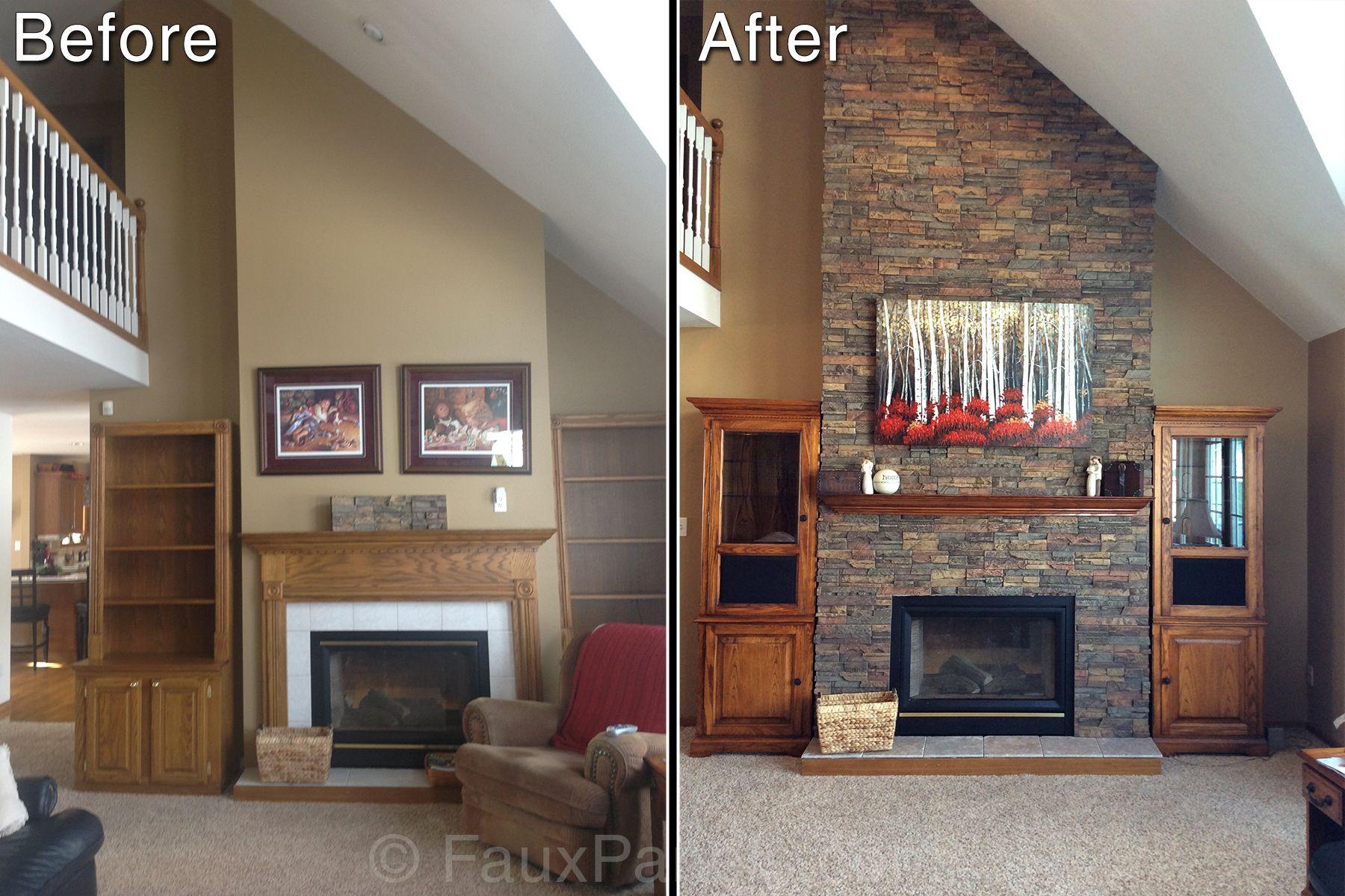 Fireplaces Portfolio Reface Fireplace Faux Panels Brick Fireplace