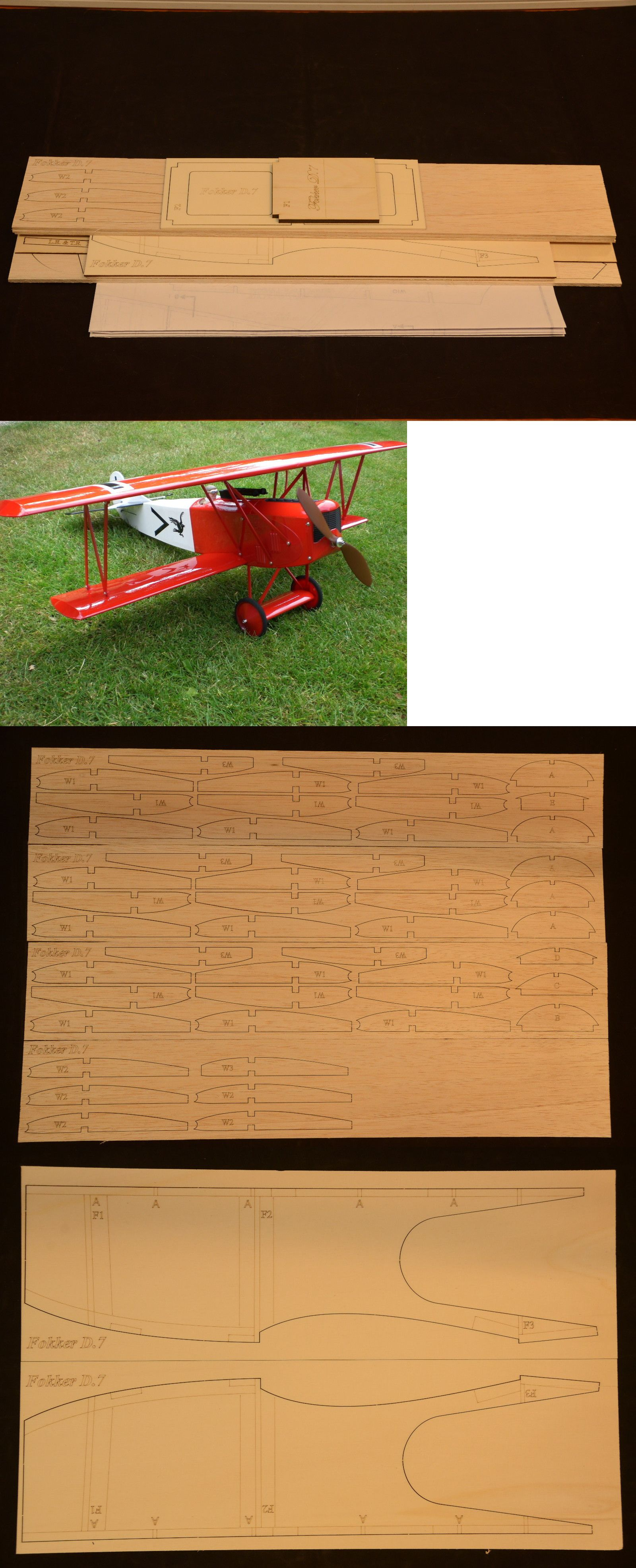 RC Plans Templates and Manuals 182212 1 7 Scale R C Biplane – Templates for Manuals