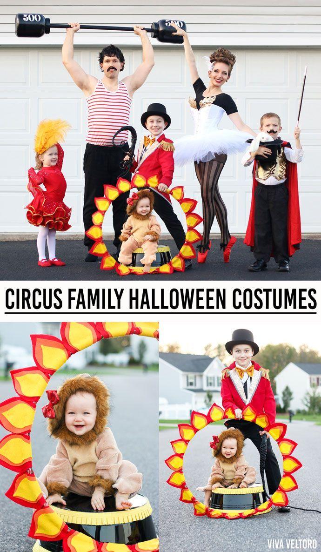 Circus Costume Ideas – DIY Family Halloween Costumes  Circus