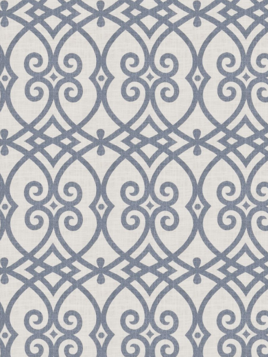 Gatework print pattern 02616 in Indigo from the Jaclyn Smith Home ...