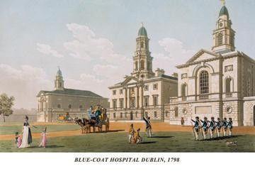 Blue-Coat Hospital Dublin 1798 24x36 Giclee