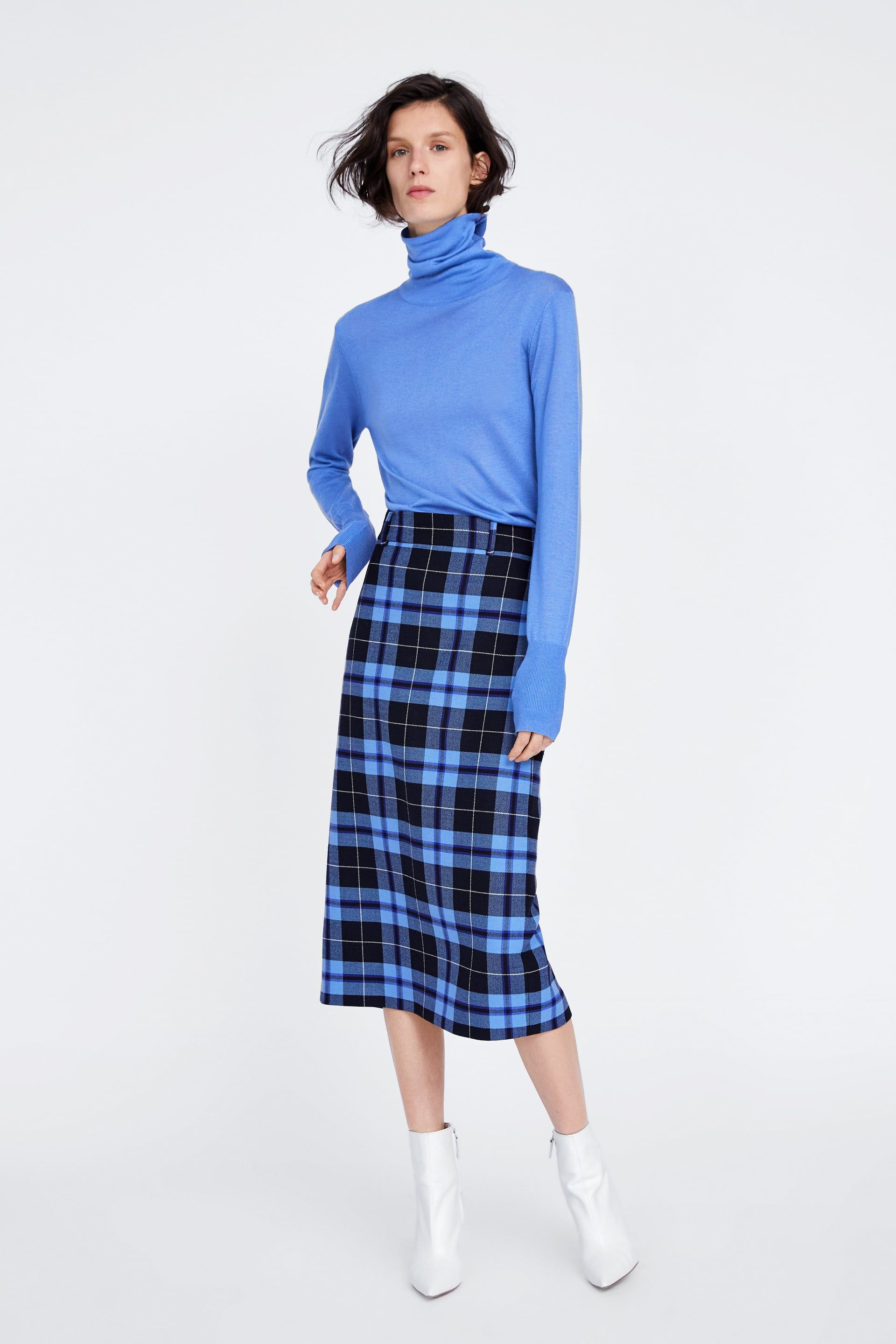 b947edad3c Image 1 of CHECK PENCIL SKIRT from Zara | Zara fashion in 2019 ...