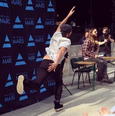 Tumblr #Thirty Seconds to Mars MeetGreet Poland 22.06.2014 :) Great, Unique, Fantastic Tomo.