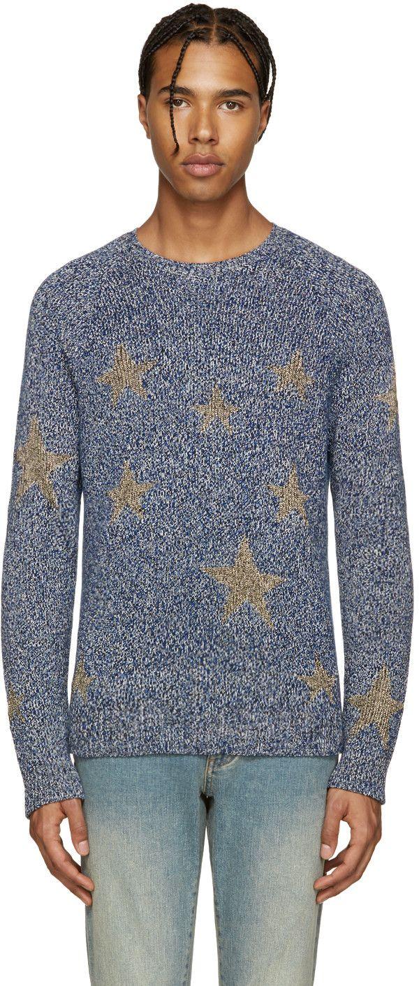 Valentino - Navy & Gold Stars Sweater