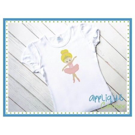 Ballet Girl Katie Applique Design