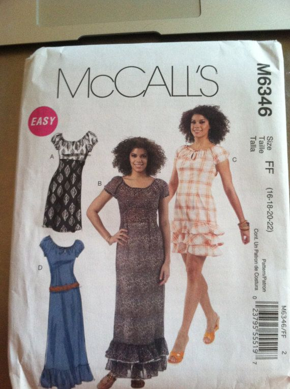 McCalls Sewing Pattern Misses Dress with McCall/'s Plus Size Dresses Your Choice